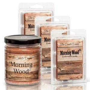 4 Pack- Cedarwood Vanilla- Morning Wood Candle